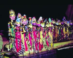 Sundanese wayang golek puppets.