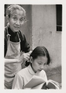 "Tom Zetterstrom, ""Combing,"" Shanghai, 1981, original gelatin silver print."