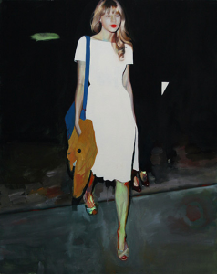 "Juliana Romano, ""Taylor Swift Walking,"" 2012, oil on linen"
